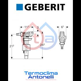 RICAMBIO GEBERIT Rubinetto a galleggiante Geberit Tipo 380, allacciamento idrico laterale, 3/8