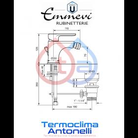 Miscelatore bidet cromato con scarico automatico EMMEVI NEFER CR77044