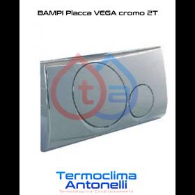 PLACCA VEGA CROMATA LUCIDA 2 TASTI per CASSETTA INCASSO BAMPI ANDROMEDA CRUX CPLAC2TNC