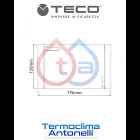 PLACCA BIANCA PER VALVOLA COLLETTORE TECO K2.3 , misura 196 x 120, C01    K7PL0001