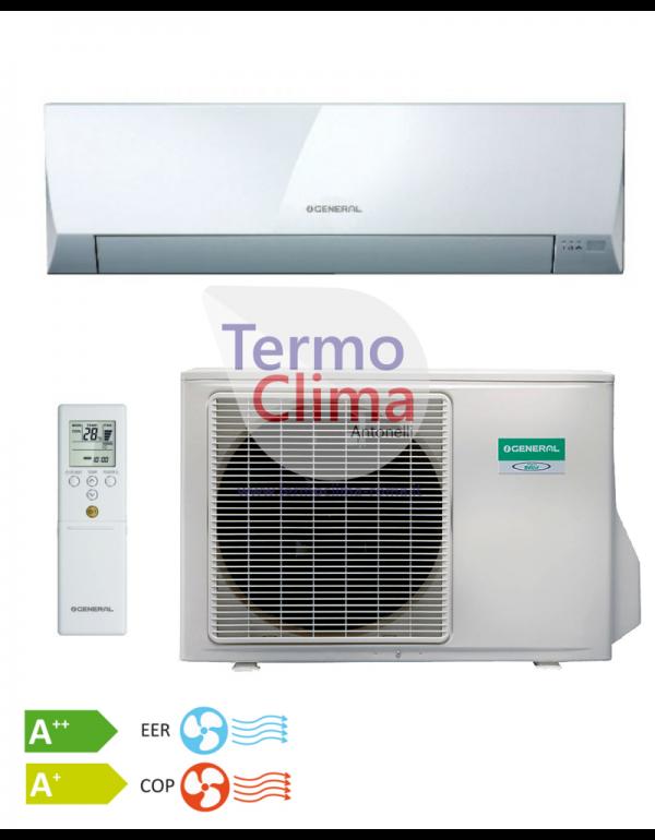 CLIMATIZZATORE CONDIZIONATORE GENERAL FUJITSU MONO SPLIT INVERTER serie LLCC R-410 9000 ASHG09LLCC con AOHG09LLCC