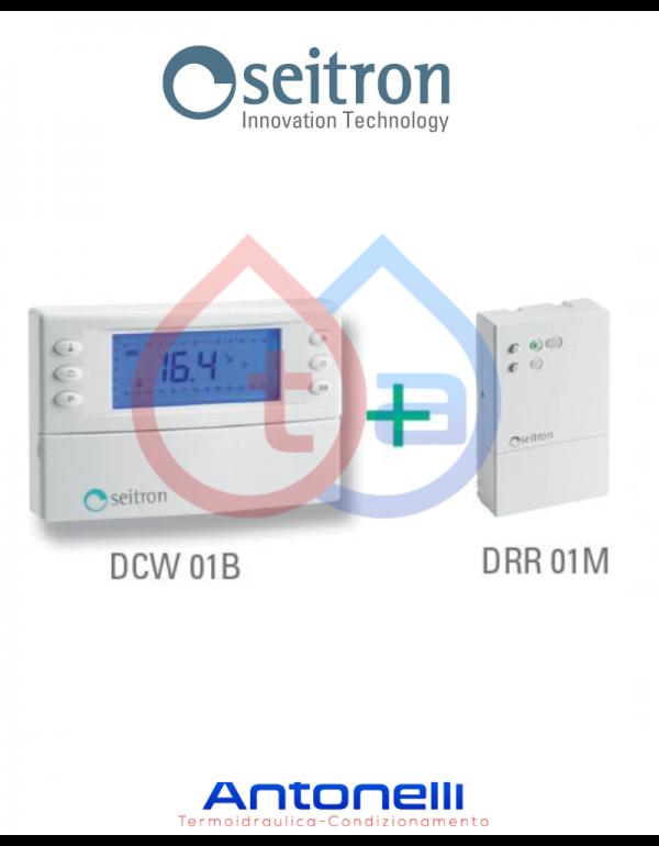 Cronotermostato digitale SETTIMANALE senza fili WIRELESS SEITRON Magictime Plus  KCR006