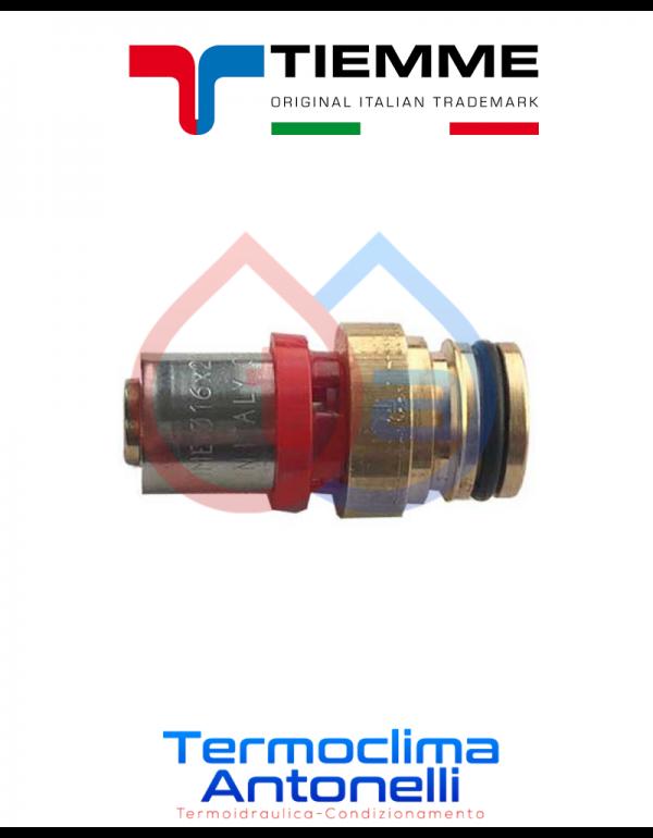 Raccordo diritto FASTEC per tubo multistrato/attacco 16x2,0  tiemme 1651039