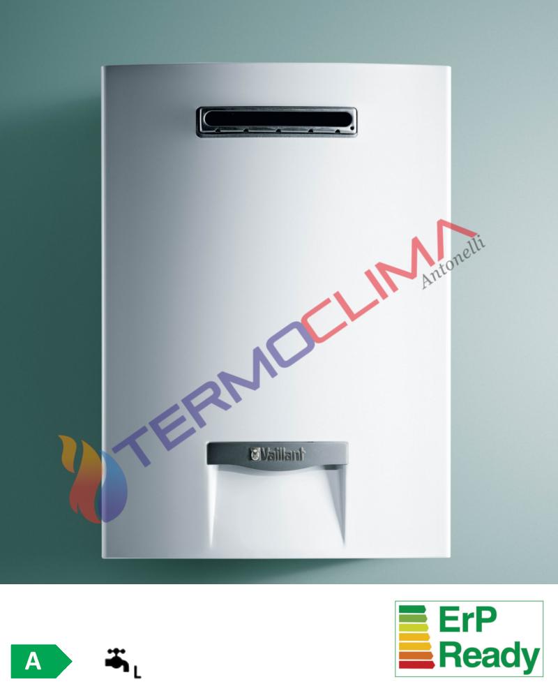 Termoclima antonelli scaldabagno a gas vaillant outsidemag 16 5 0 5 lt da esterno metano - Scaldabagno a gas per esterno ...