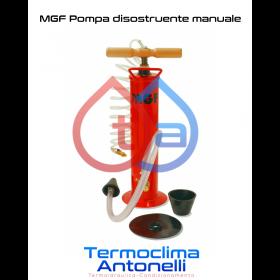 POMPA DISOSTRUENTE MANUALE COMPLETA PER SGORGARE SCARICHI MGF 904100