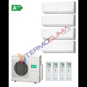CLIMATIZZATORE CONDIZIONATORE GENERAL FUJITSU QUADRI SPLIT INVERTER serie LMCA R-410 9000+9000+9000+9000 ASHG09LMCA con AOHG30LAT4