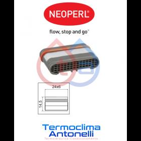 Aeratore rettangolare 24x6 mm NEOPERL 02328290