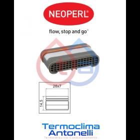 Aeratore rettangolare 28x7 mm  NEOPERL 02328490