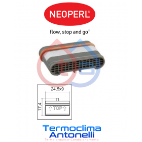 Aeratore rettangolare 24.5x9 mm NEOPERL 02328990