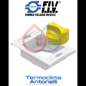 RICAMBIO FIV KIT SUPPORTO PORTINA PLACCA CON MANOPOLA PER VALVOLA INCASSO FIV GAS BOX  6192P004