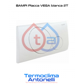 PLACCA VEGA BIANCA 2 TASTI per CASSETTA INCASSO BAMPI ANDROMEDA CRUX CPLAC2TN