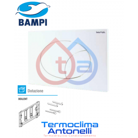 PLACCA MECCANICA BAMPI FLOW BIANCA COMPATIBILE CON CASSETTE BAMPI BSILENT CPLAFLOW1