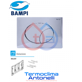 PLACCA MECCANICA BAMPI FLOW CROMATA COMPATIBILE CON CASSETTE BAMPI BSILENT CPLAFLOW2