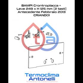 RICAMBIO BAMPI CONTROPLACCA + LEVE 249 x H 125 mm (antecendente febbraio 2013) CASSETTA ANDROMEDA CRIAND01