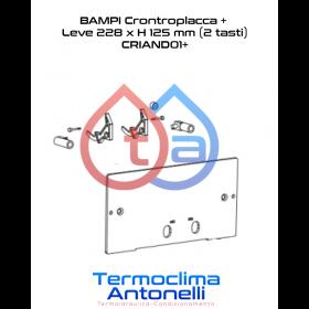 RICAMBIO BAMPI CONTROPLACCA + LEVE 228 x H 125 mm CASSETTA ANDROMEDA CRIAND01+