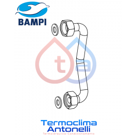 """RICAMBIO BAMPI Curva di rame 3/8"""" x 3/8"""" ANDROMEDA / CRUX CRIAND14"""