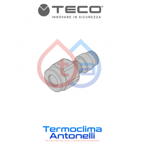 "RACCORDO GAS A STRINGERE PER TUBO RAME EN 1254-2 CASSETTA INCASSO GAS TECO  3/4"" ø 18 mm  K0CR1801"