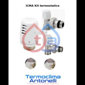 KIT TERMOSTATICO ICMA A SQUADRO RAME 12 - RIQUALIFICAZIONE RADIATORE - ICMA 1100 + 840 + 839