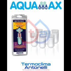 Ricarica ricariche universale di polifosfati anticalcare e anticorrosivo a lunga autonomia 6 pz pronti all'uso AQUAMAX MAXPOLYQUICK SUPER MEDIUM 10.160.300