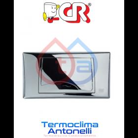PLACCA CROMATA PER CASSETTA FUSION A DUE TASTI CR SMART 1061C2