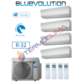 CLIMATIZZATORE CONDIZIONATORE DAIKIN QUADRI SPLIT INVERTER serie FTXM R-32 Bluevolution 7+7+9+9 FTXM20M FTXM25M con 4MXM68M