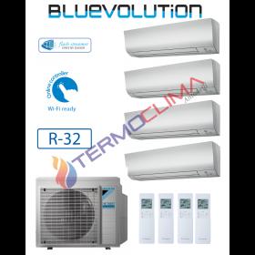 CLIMATIZZATORE CONDIZIONATORE DAIKIN QUADRI SPLIT INVERTER serie FTXM R-32 Bluevolution 9+9+12+12 FTXM25M FTXM35M con 4MXM80M