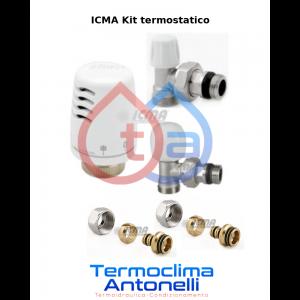 KIT TERMOSTATICO A SQUADRO MULTISTRATO 16 - RIQUALIFICAZIONE RADIATORE - ICMA KITA 1100 + 840 + 839